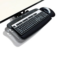 Articulating Keyboard Tray for Stand Up Desk