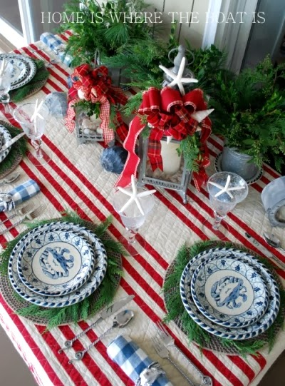 nautical Christmas table