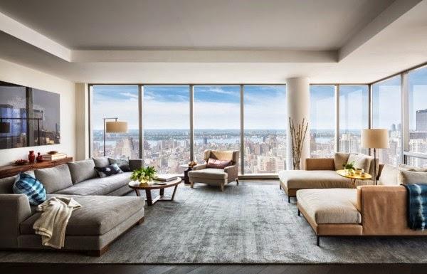 sumamente espaciosa para manhattan el plan de piso abierto y las ventanas grandes hacen que el apartamento parezca an ms amplio