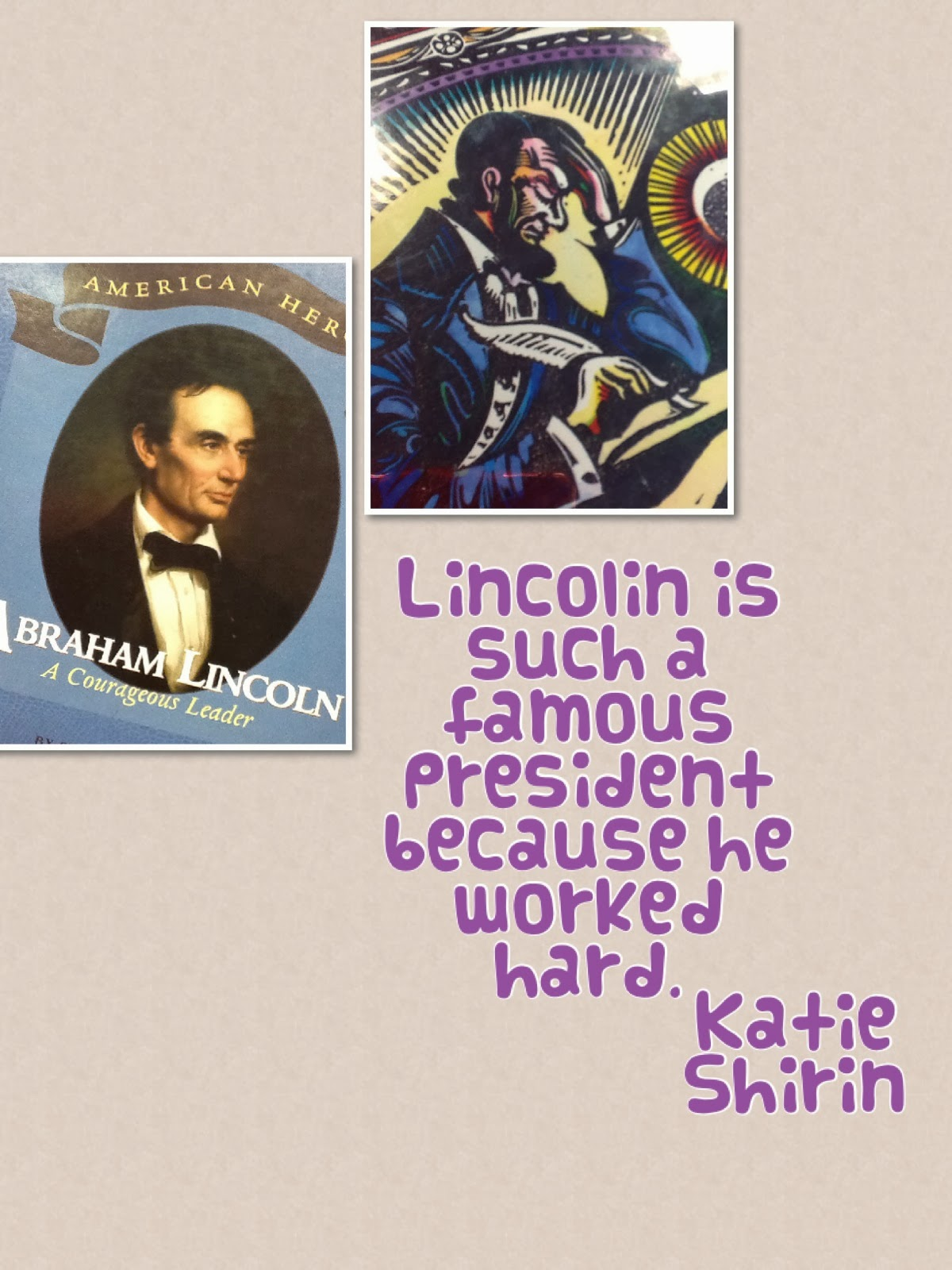 Mrs Donovan S First Grade Abraham Lincoln Research