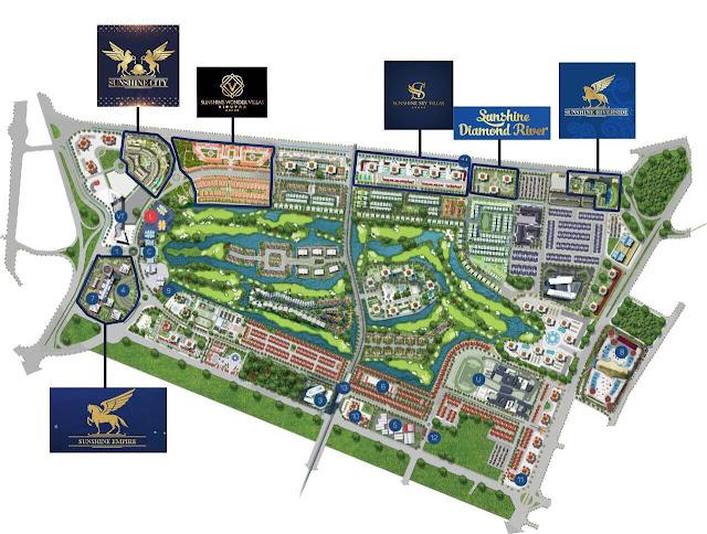 Vị trí quy hoạch xây dựng Sunshine Crystal River