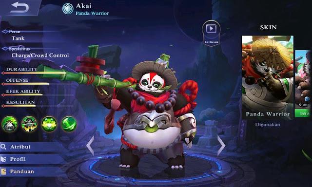 Inilah Top Build Item Akai Mobile Legends Panda Terkuat