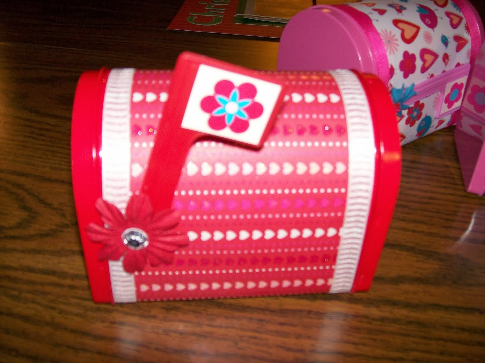 The mailbox above was bought un-decorated at Target in the dollar section. I just added the paper and decorations. They were filled with candy and given as ... & A RUP LIFE: Valentineu0027s Day Revisited: Ideas for crafts cards and ...