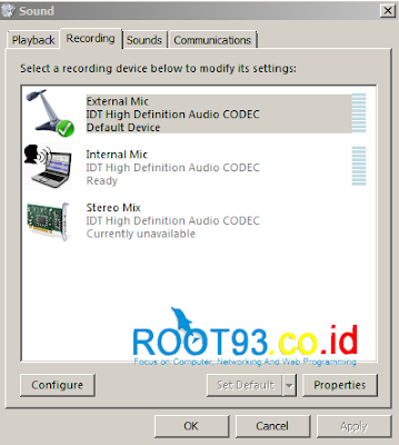 konfigurasi mikropohone eksternal 1