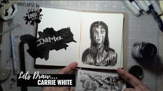 Carrie White from Stephen King's Carrie  -Inktober 2018