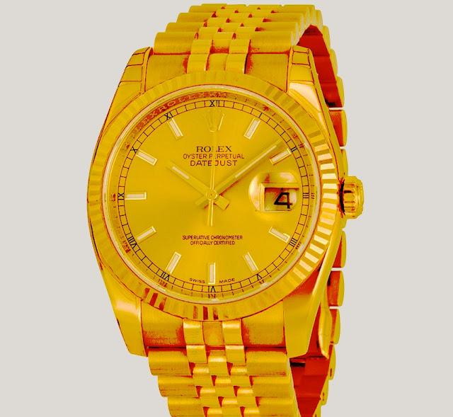 """أفضل ساعة رولكس من الذهب الأصفر """"Datejust Automatic Gold"""""""