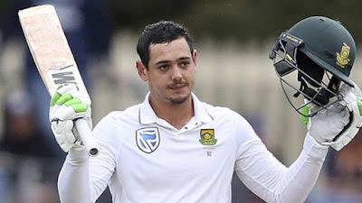 विकेटकीपर बल्लेबाज क्विंटन डी कॉक बने दक्षिण अफ्रीका के सर्वश्रेष्ठ क्रिकेटर