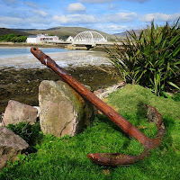Pictures of Ireland: Anchor and the bridge to Achill Island in County Mayo