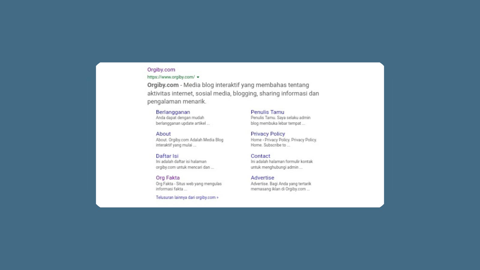 Cara Memasukan Blog Lain Ke Dalam Sitelink Blog Utama