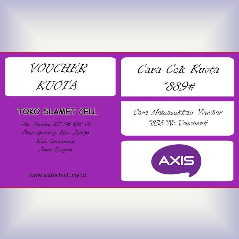 Voucher Kuota Internet Axis