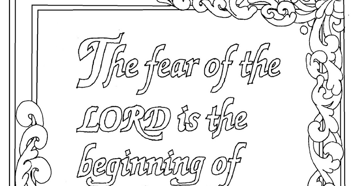 coloring pages proverbs - photo#27