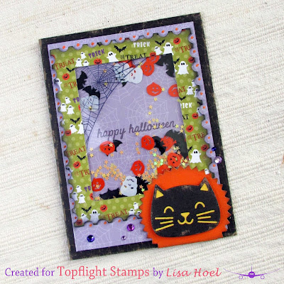 Lisa Hoel for Topflight Stamps - Halloween shaker card
