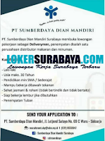 Bursa Kerja Surabaya di PT. Sumberdaya Dian Mandiri Agustus 2020