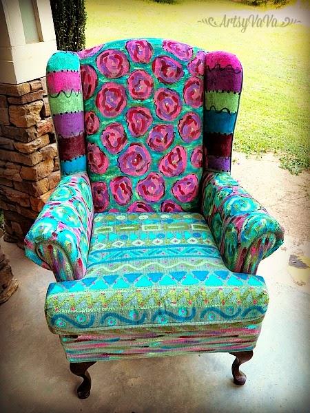 Artsy VaVa: The Painted Pumpkin Chair