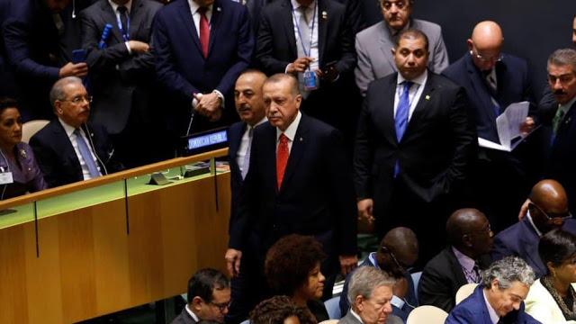 Erdogan 'Walk Out' Saat Trump Pidato di Sidang Umum PBB