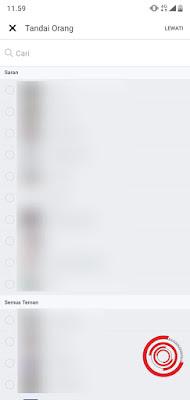 3. Setelah itu pilih tandai teman, jika tidak perlu silakan klik Lewati di pojok kanan atas