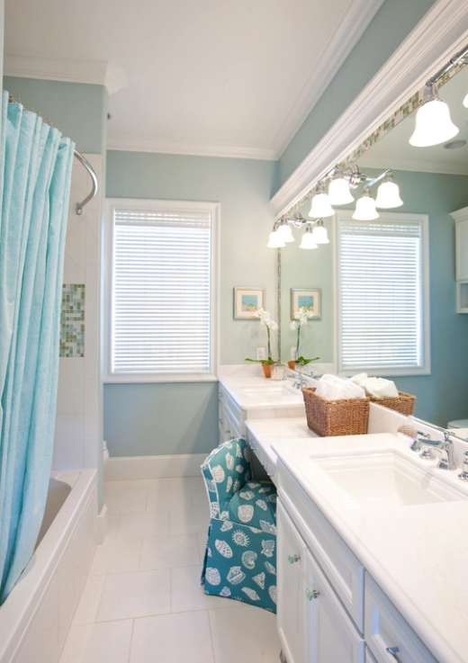Pale Light Pastel Blue Bathroom Ideas