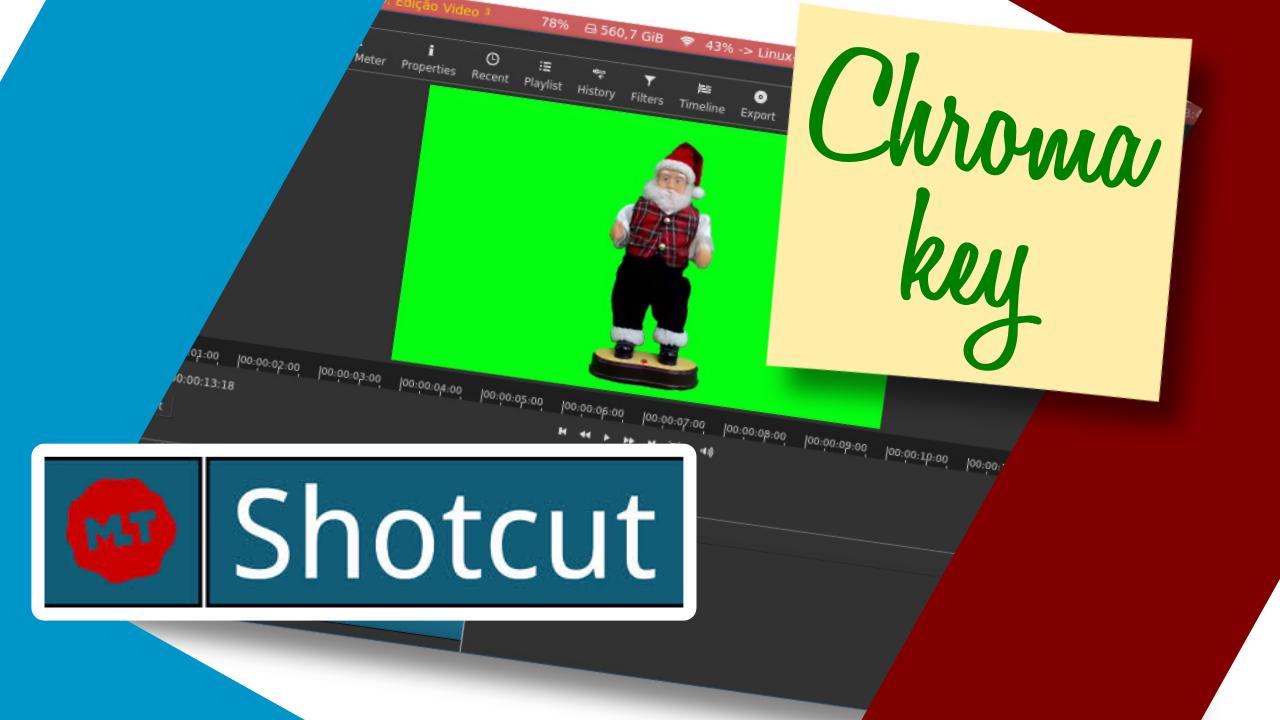Como criar o efeito Chroma Key no Shotcut