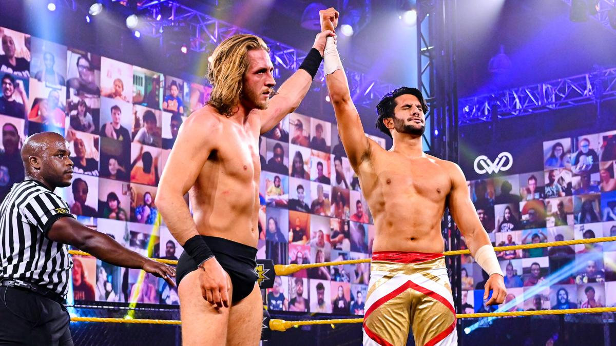 Mansoor and Curt Stallion on WWE 205 Live
