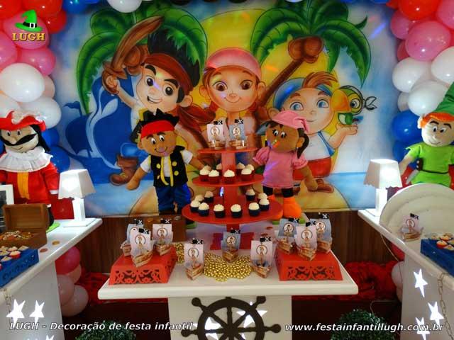 Decoração infantil Jake e os Piratas da terra do nunca - aniversário infantil