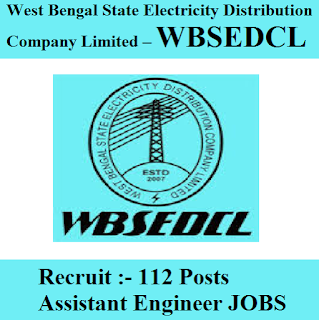 West Bengal State Electricity Distribution Company Limited, WBSEDCL, WB, West Bengal, Assistant Engineer, Graduation, freejobalert, Sarkari Naukri, Latest Jobs, wbsedcl logo