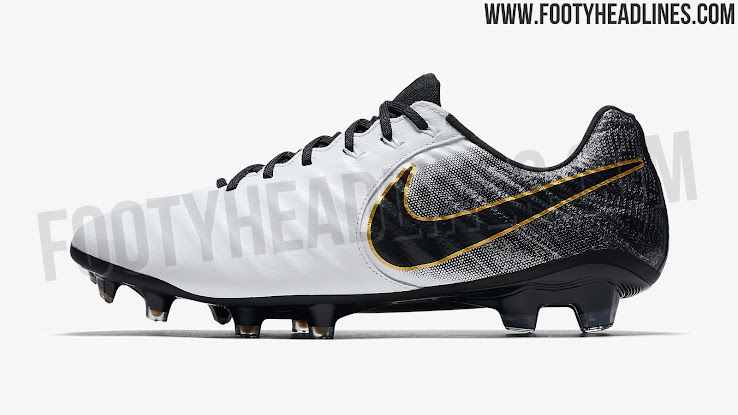 best sneakers 75be0 0d5b3 Classy White / Black / Gold Nike Tiempo 2018 Boots Released ...