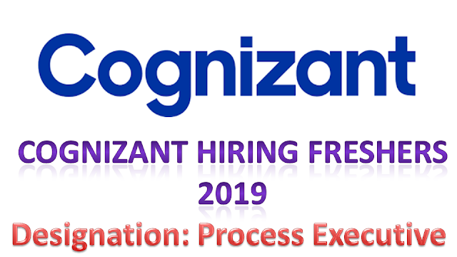 Cognizant Freshers Recruitment 2019