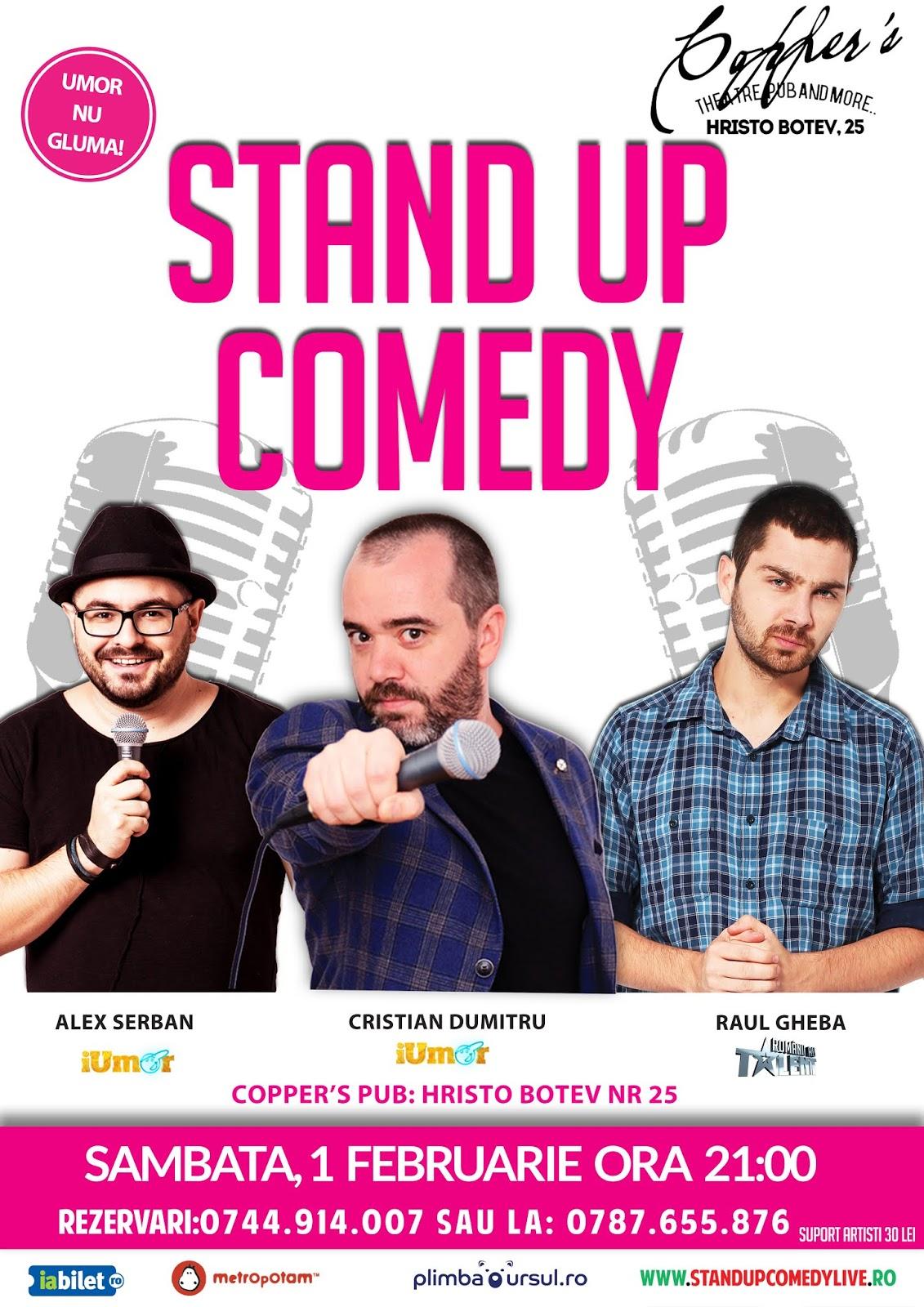 Stand-Up Comedy Sambata 1 Februarie 2020
