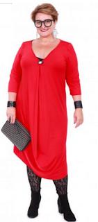 poza rochie larga rosie femei xxl