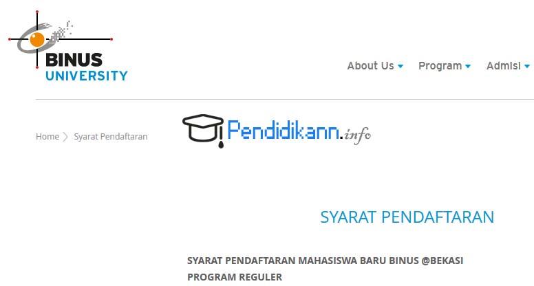 Syarat Pendaftaran Univeristas Bina Nusantara Lengkap