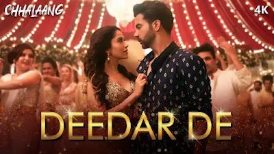 Deedar de song Lyrics chhalaang 2020