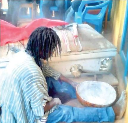 igbo trader sleeps in coffin kogi state