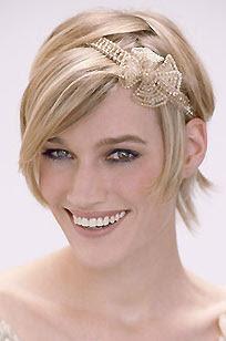 Winter Wedding:  Wedding Hairstyles for Short Hair