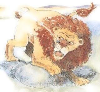 Davide mette in fuga un leone