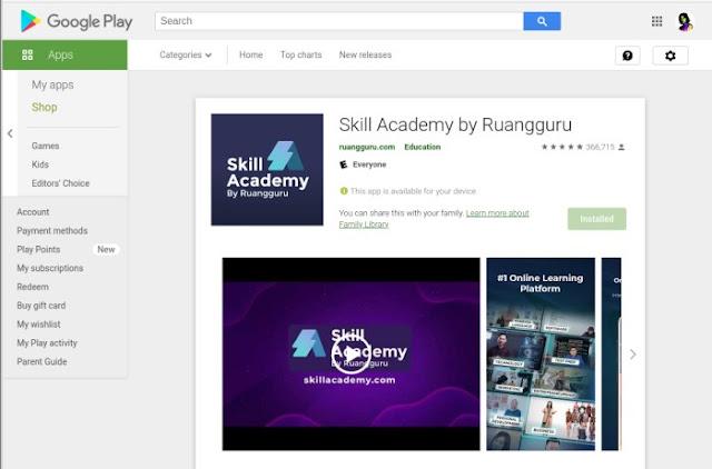 Download Aplikasi Skill Academy by RuangGuru di Playstore
