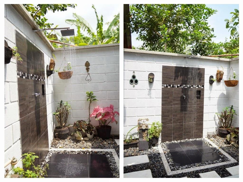 Decoraci n casa rural construyendo un ba o al aire libre - Decoracion pared exterior ...