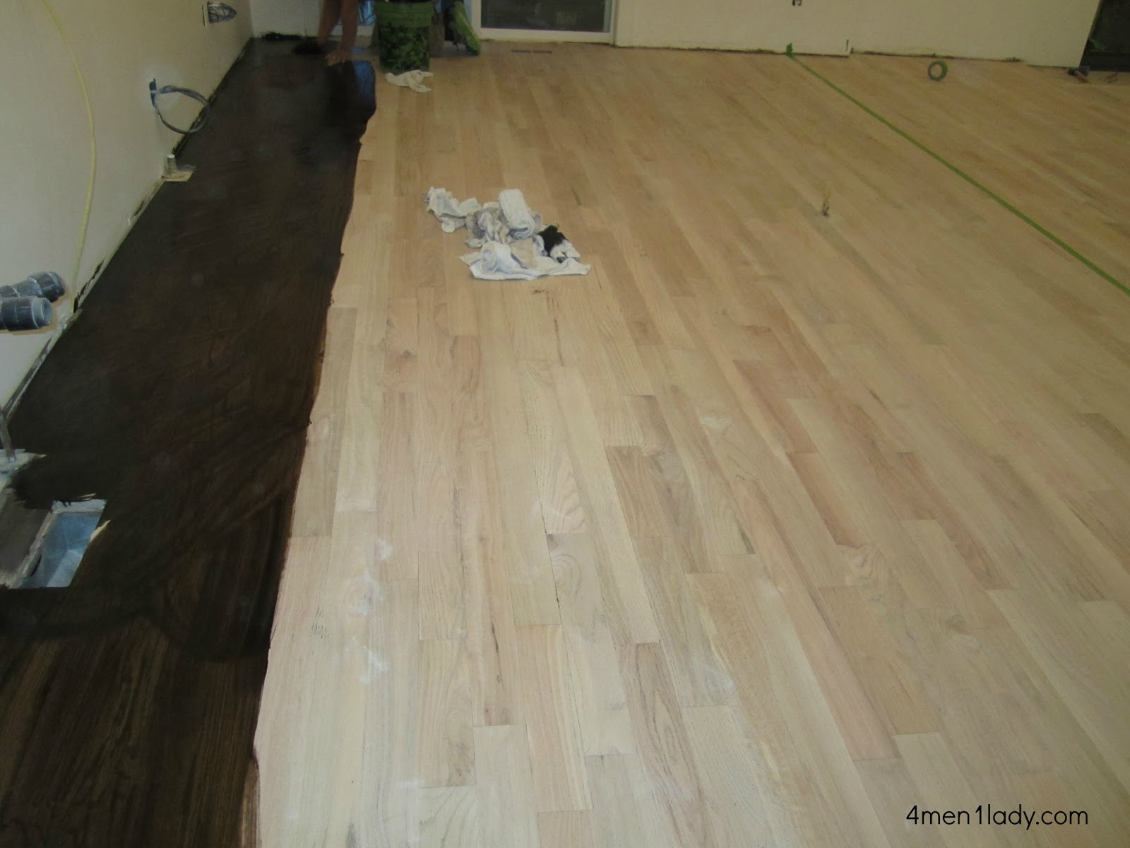 Staining hickory floors dark gurus floor for Wood stain pros and cons