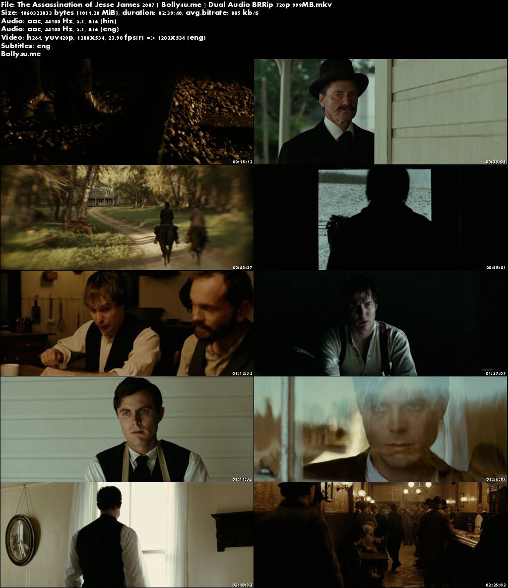 The Assassination of Jesse James 2007 BRRip 500Mb Hindi Dual Audio 480p Download