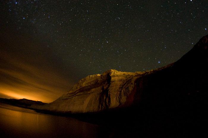 noche estrellada en Puerto Piramides peninsula valdes