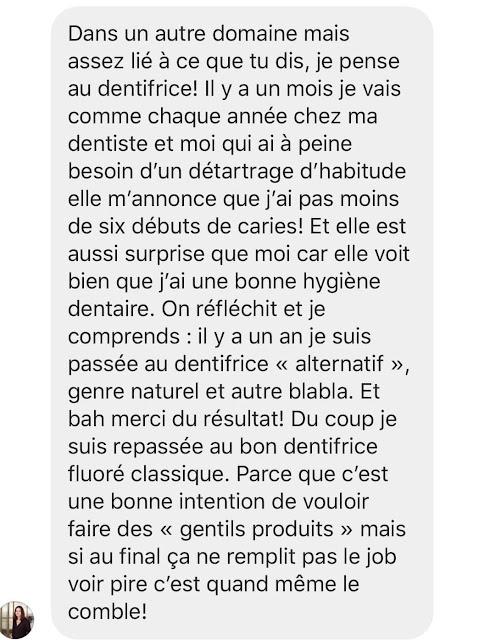 Dentifrice sans fluor Danger Carie
