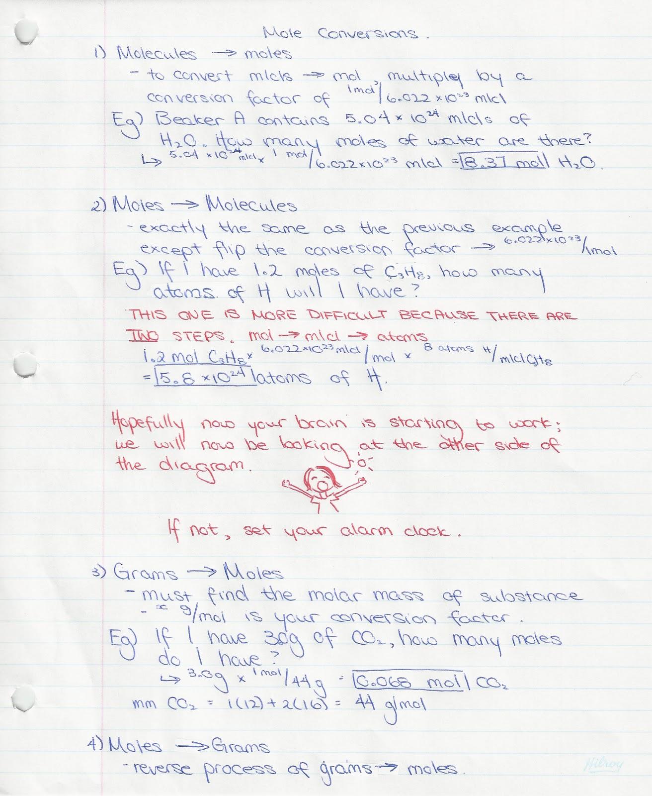 Chembloggers Mole Conversions Part 2