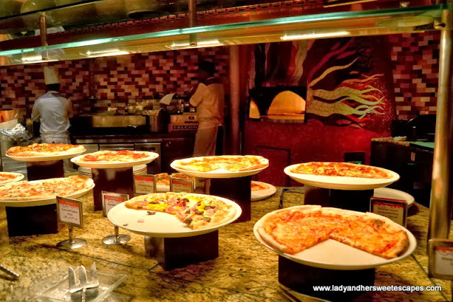 Italian buffet section at Kaleidoscope in Atlantis The Palm