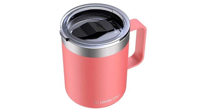 Stainless Steel Simple Modern Coffee Mug With Handle