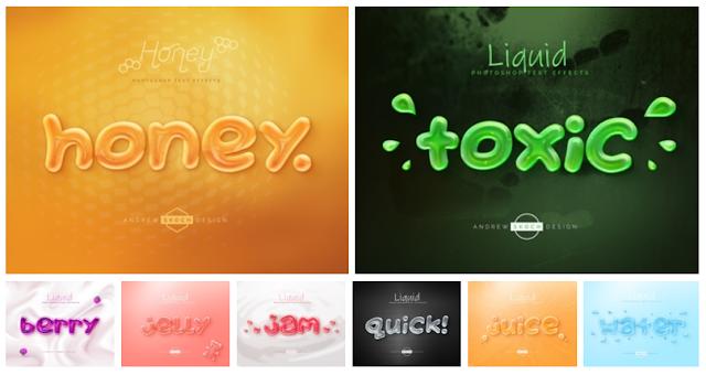 تأتيرات رائعة للنصوص - Liquid Tasty Text Effects