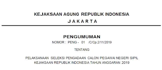 Formasi CPNS Kejaksaan 2019