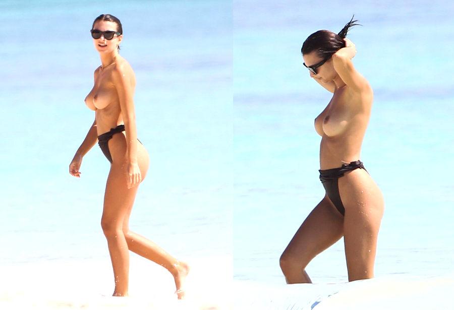 Emily Ratajkowski Pillada Haciendo Topless En Playas Mexicanas Foto 1
