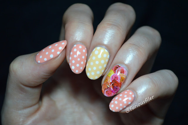 peachella yellow peach water decals roses