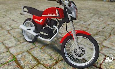 Download mod moto Honda ML chave pc fraco para GTA San Andreas