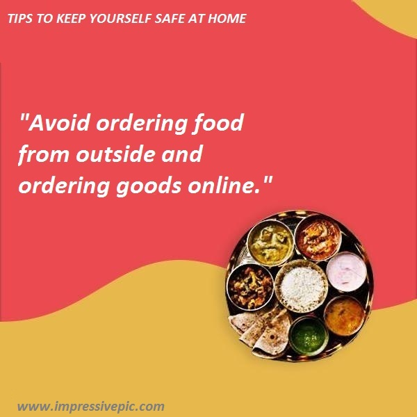 Avoid ordering food from outside