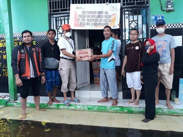 Pos Indonesia Berikan Bantuan Kepada Korban Bencana Banjir Kalsel & Gempa Bumi Majene Sulbar